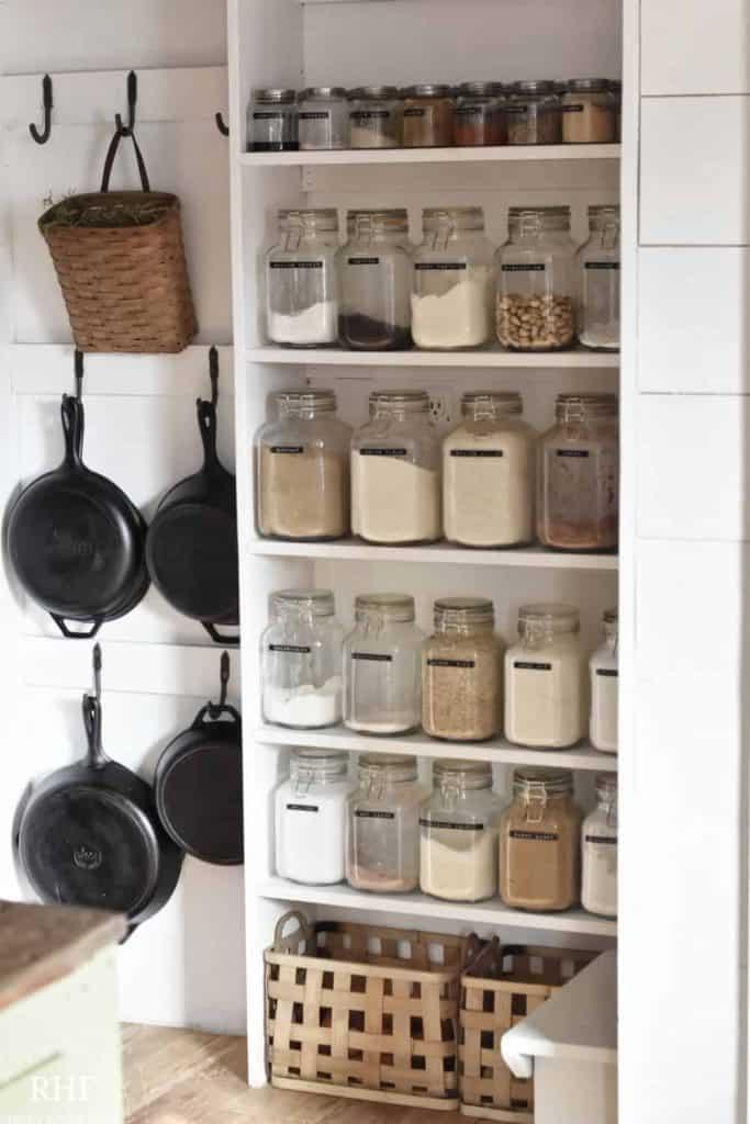 glass pantry organization