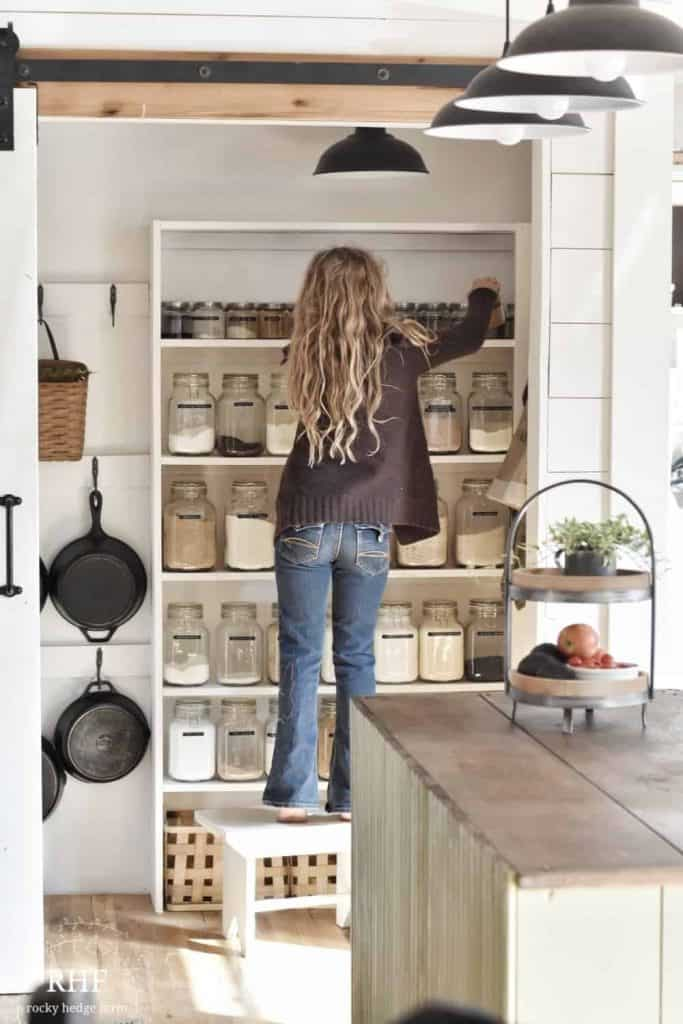 DIY Walk in Kitchen Pantry