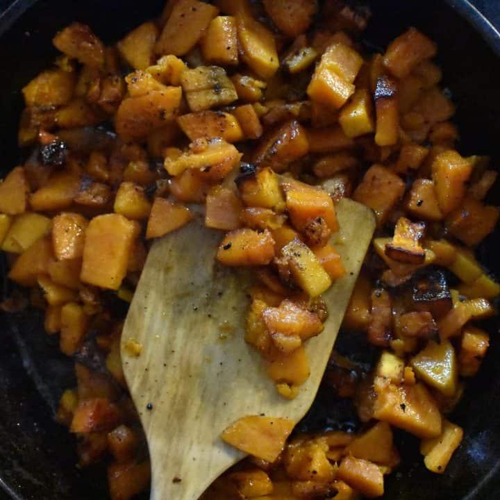 Crispy Pan Fried Sweet Potatoes