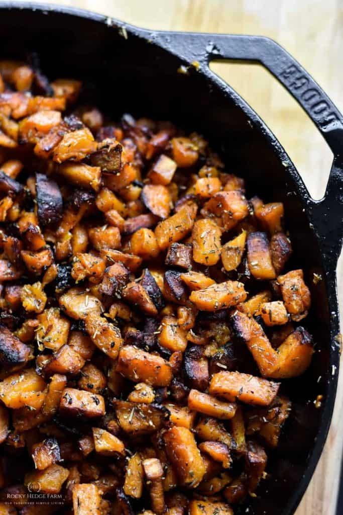 Easy Pan Fried Sweet Potatoes Recipe