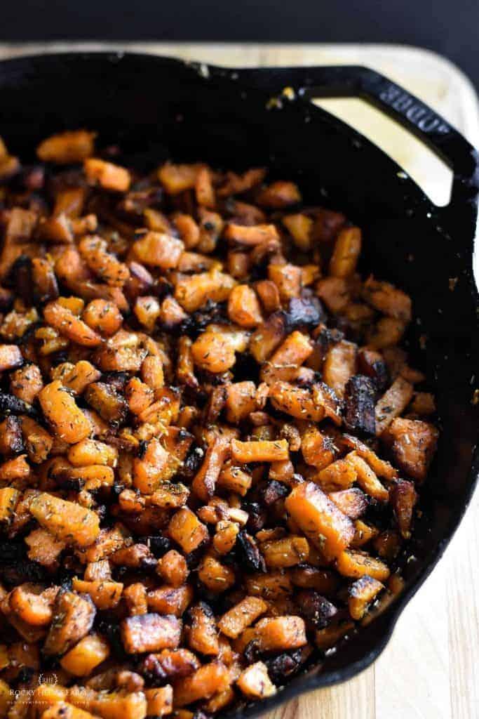 Skillet Sweet Potatoes Recipe