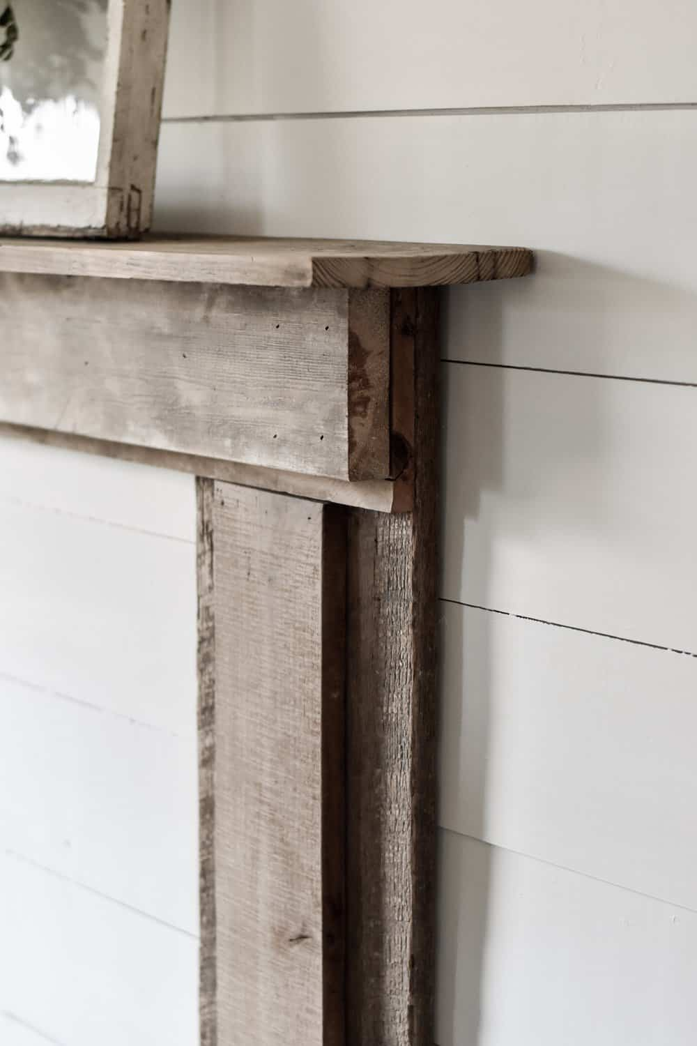 diy farmhouse fireplace mantel
