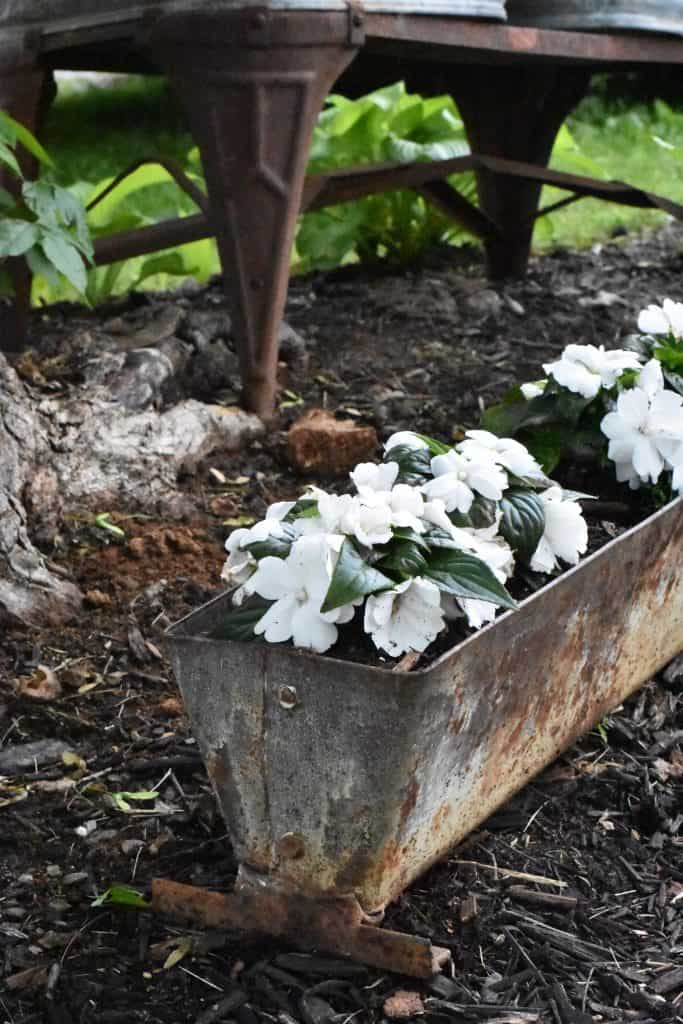 Vintage Garden Trough Planters