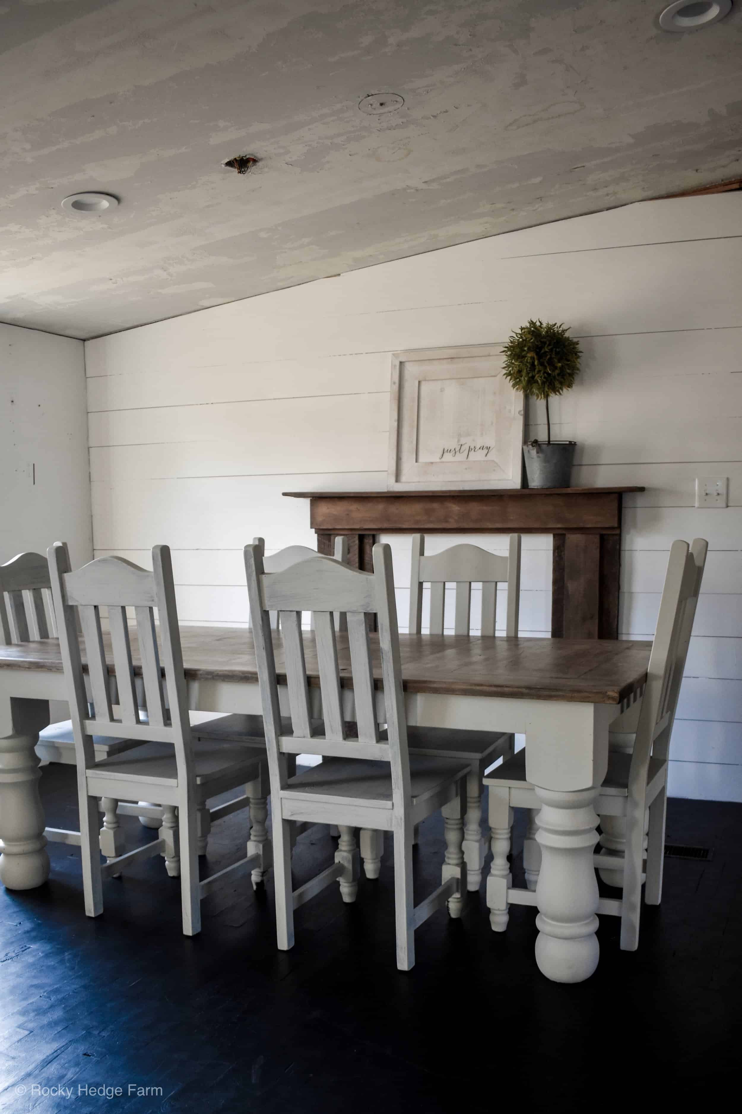 farmhouse style double wide mobile home dining room remodel