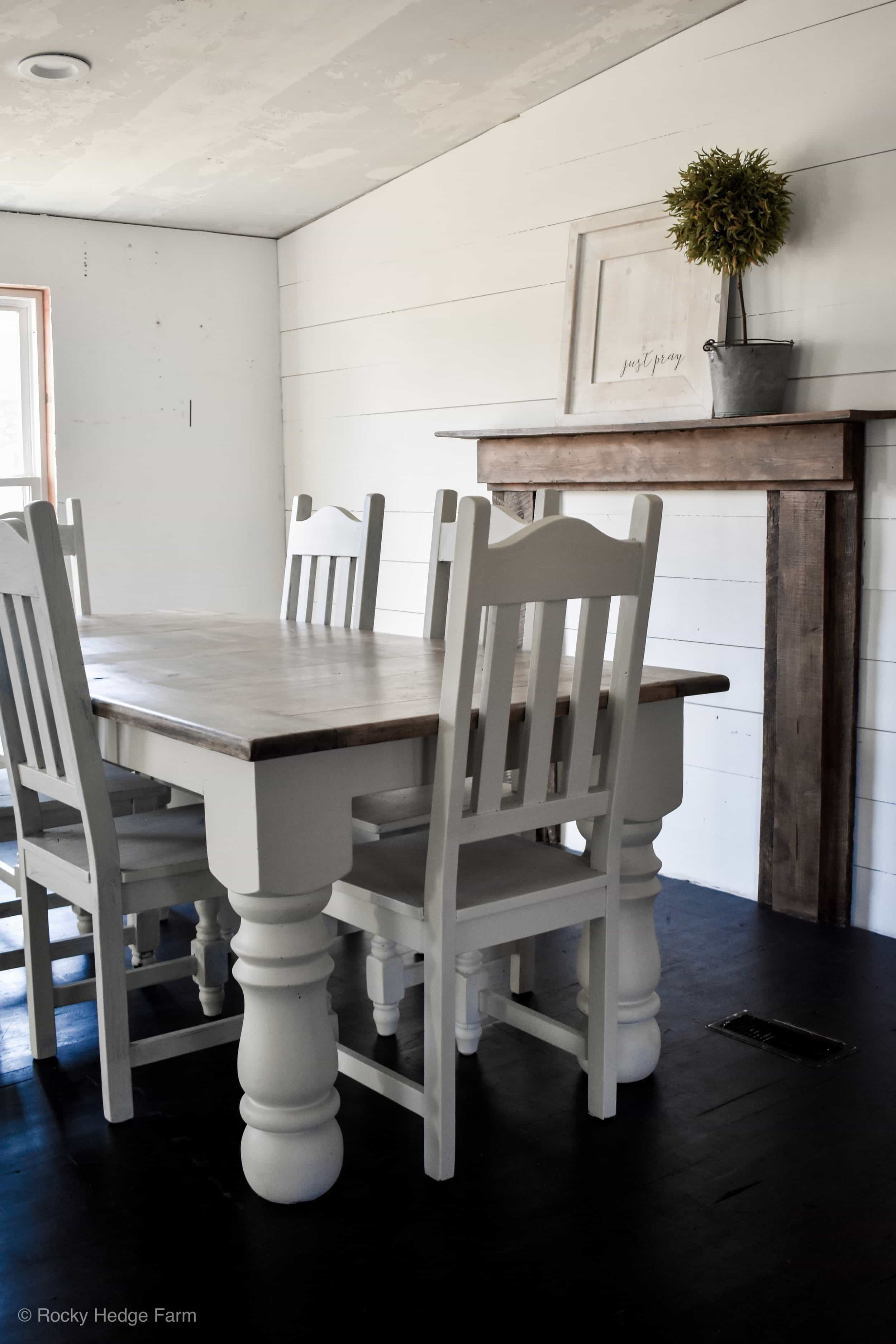 farmhouse mobile home dining room