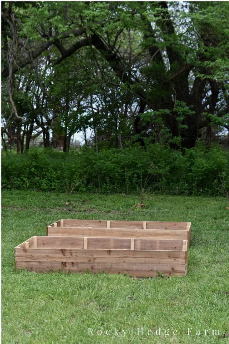 how to build cheap garden beds