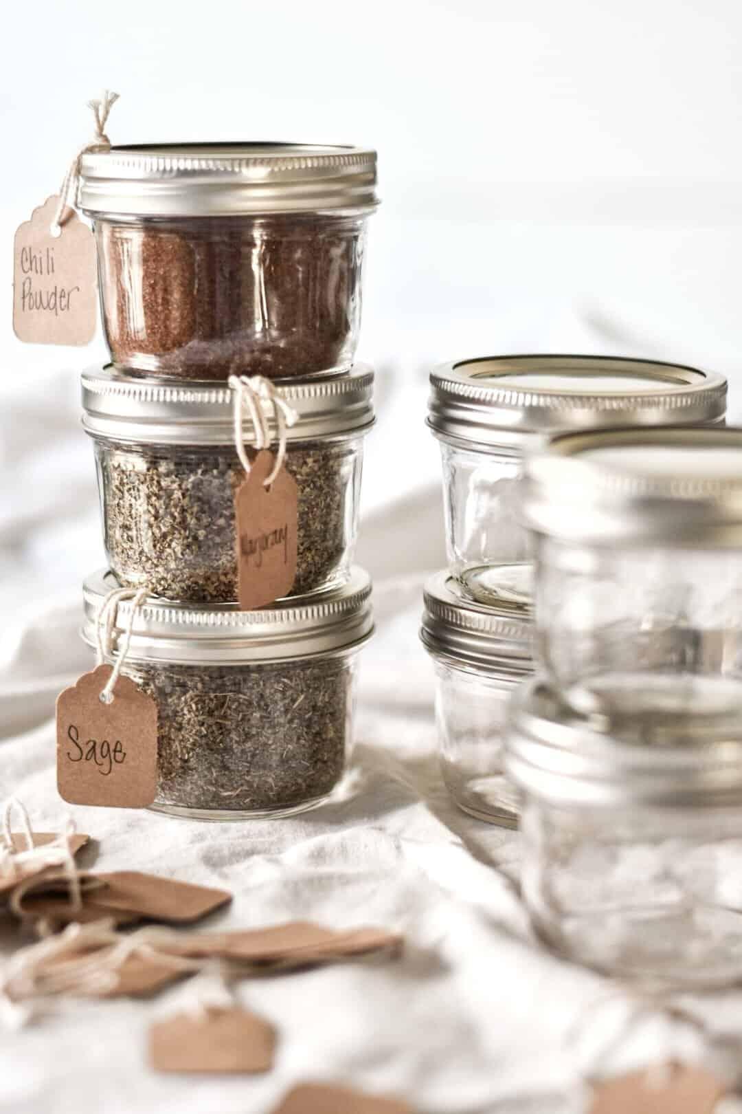 kitchen tips mason jar spice amp herb storage