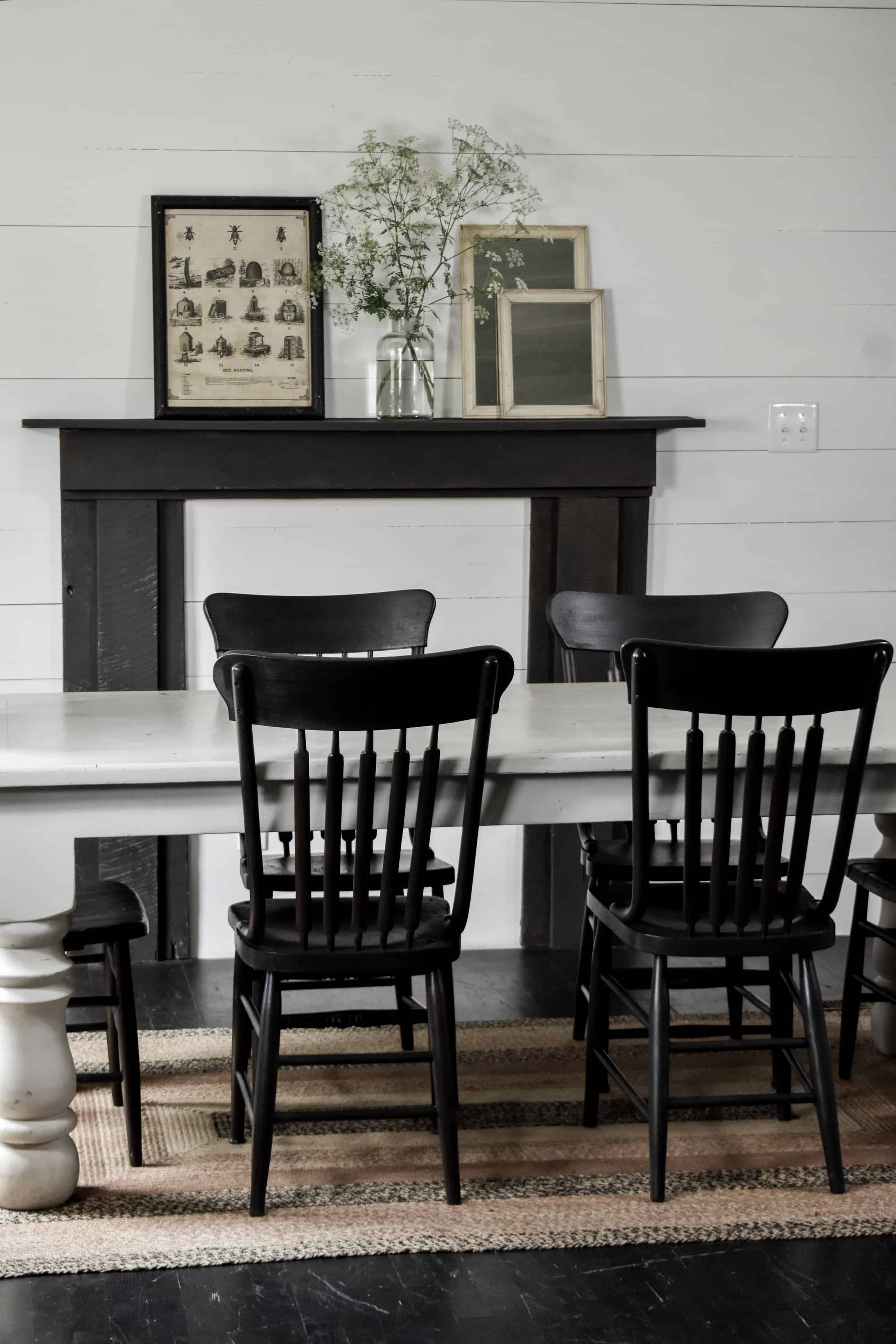 Rustic Black Farmhouse Dining Chairs Rocky Hedge Farm