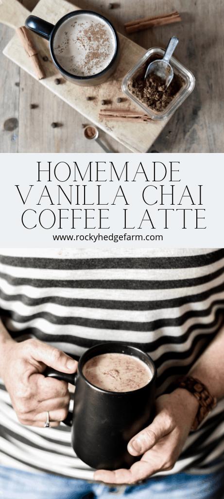 Homemade From Scratch Vanilla Chai Coffee Latte