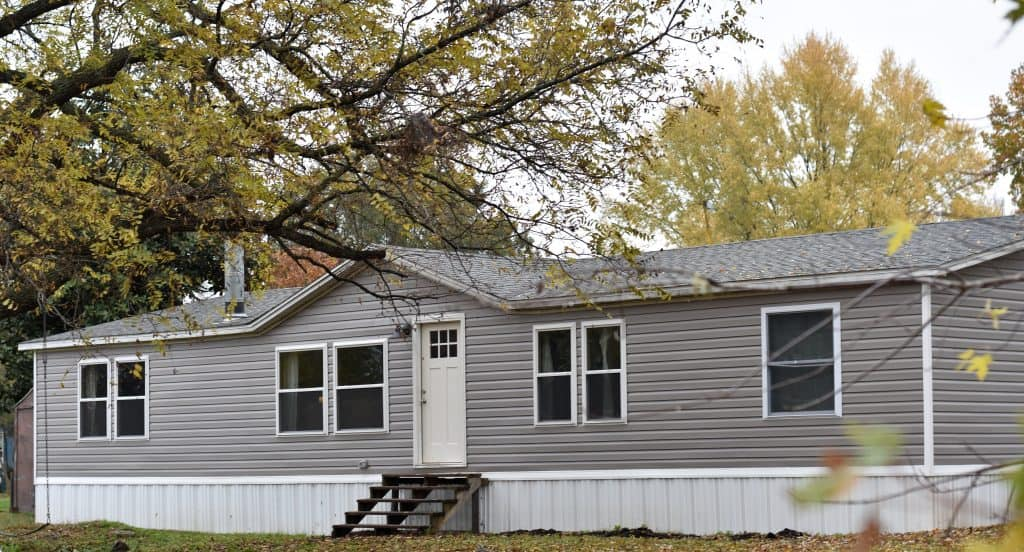 Mobile Home Farmhouse Exterior Remodel