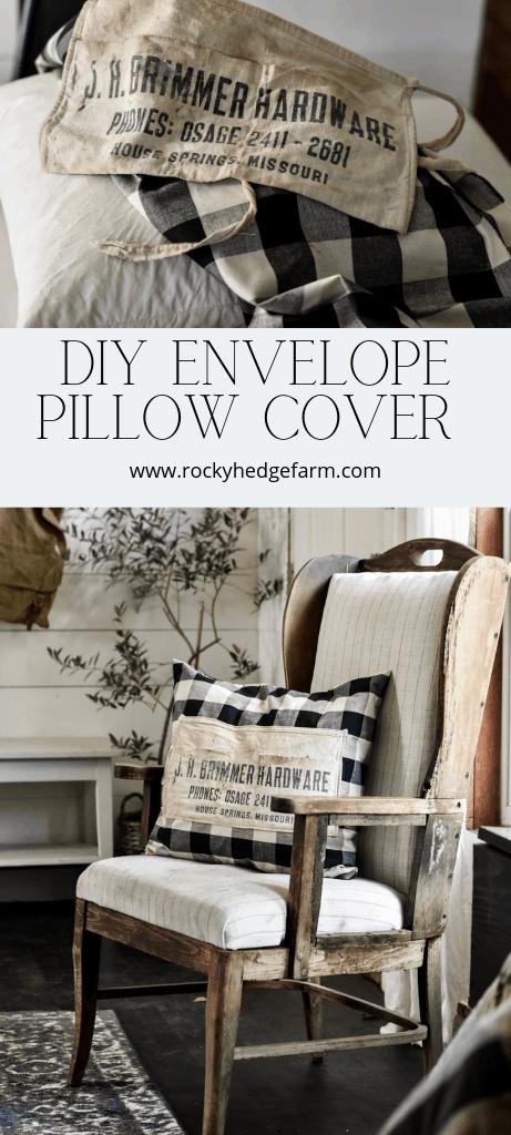 Vintage Hardware Nail Apron Envelope Pillow Cover Tutorial