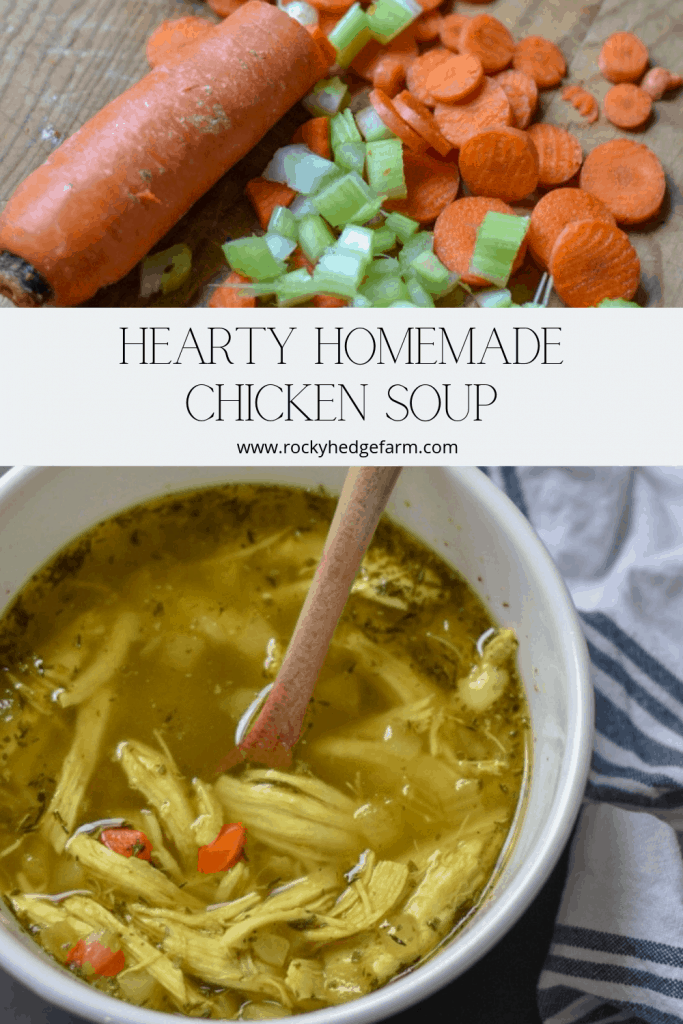 Hearty Homemade Chicken Soup that is low carb and keto recipe