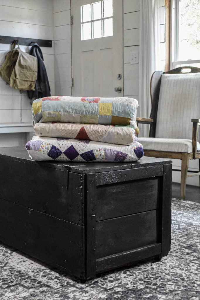 Small Space Storage Solution for Blankets and Quilts