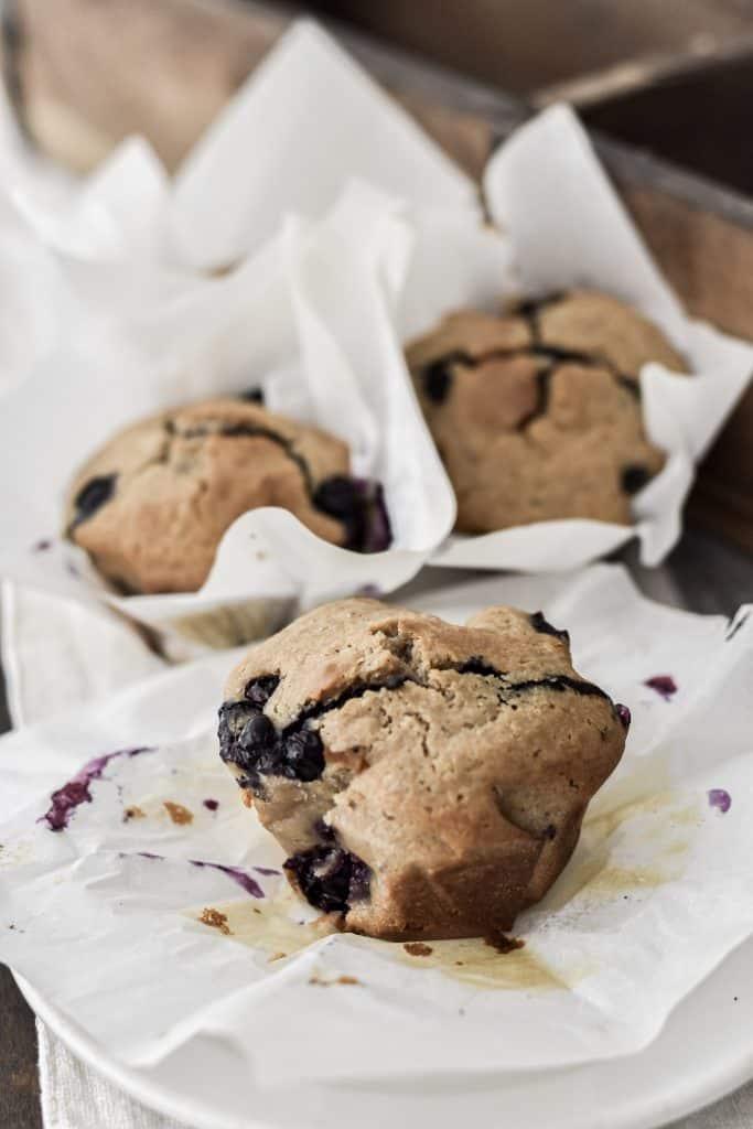 Overnight Sourdough Blueberry Muffin Recipe data-pin-description=