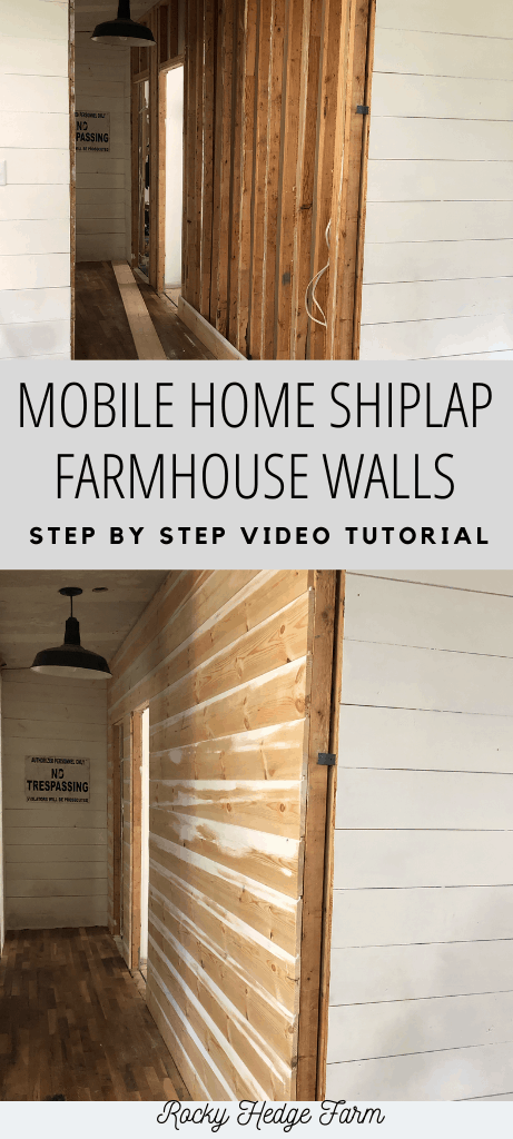 How to Hang Shiplap on Mobile Home Walls