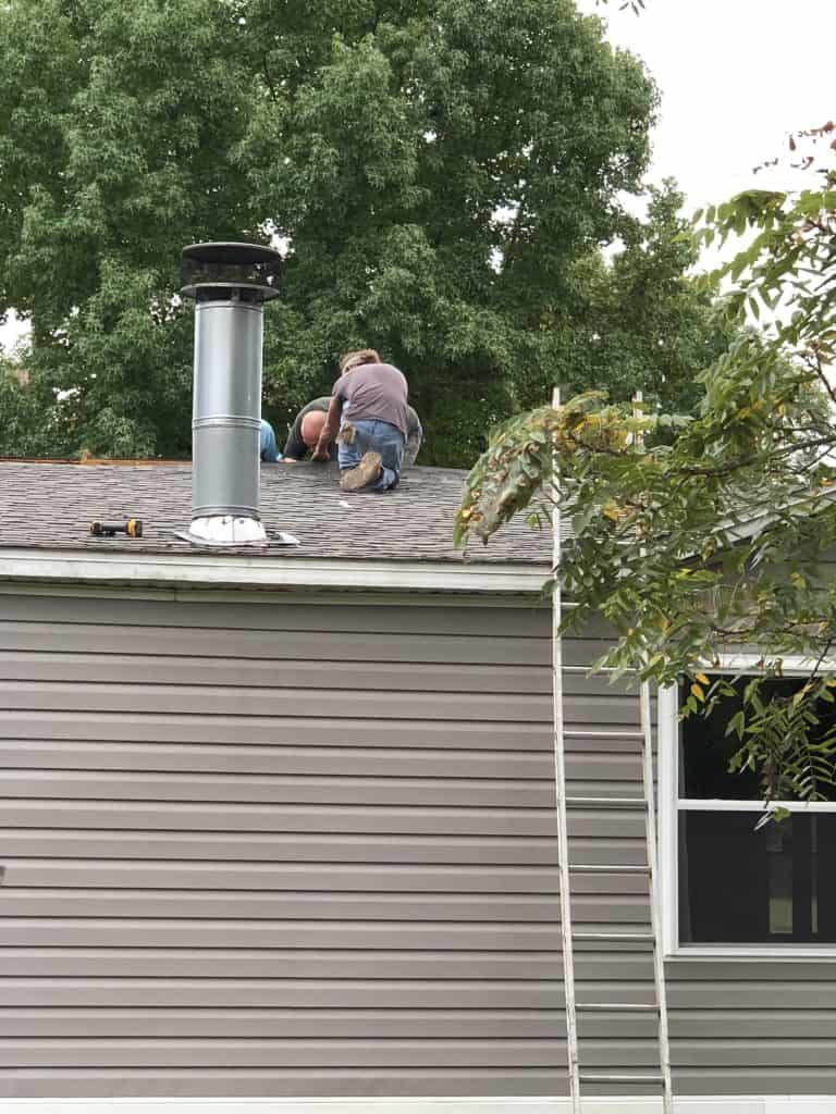 removing roof on a mobile home