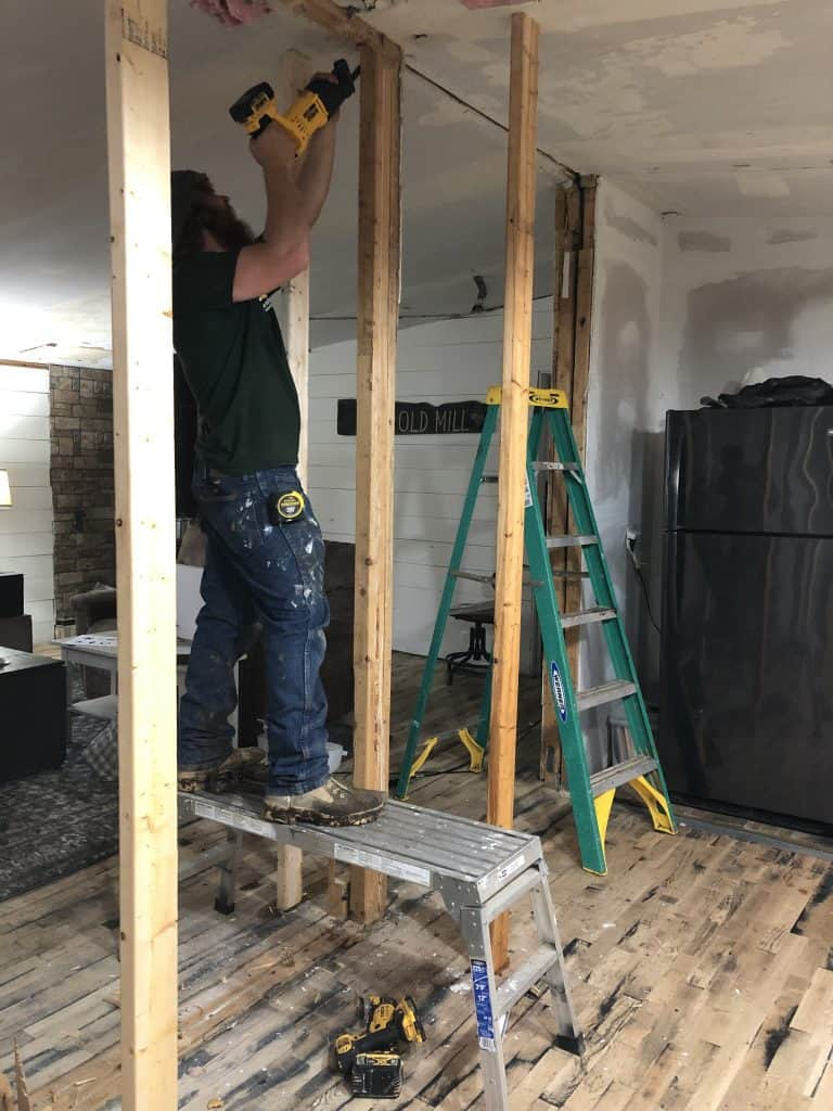 Marriage Wall Removal in a Mobile Home