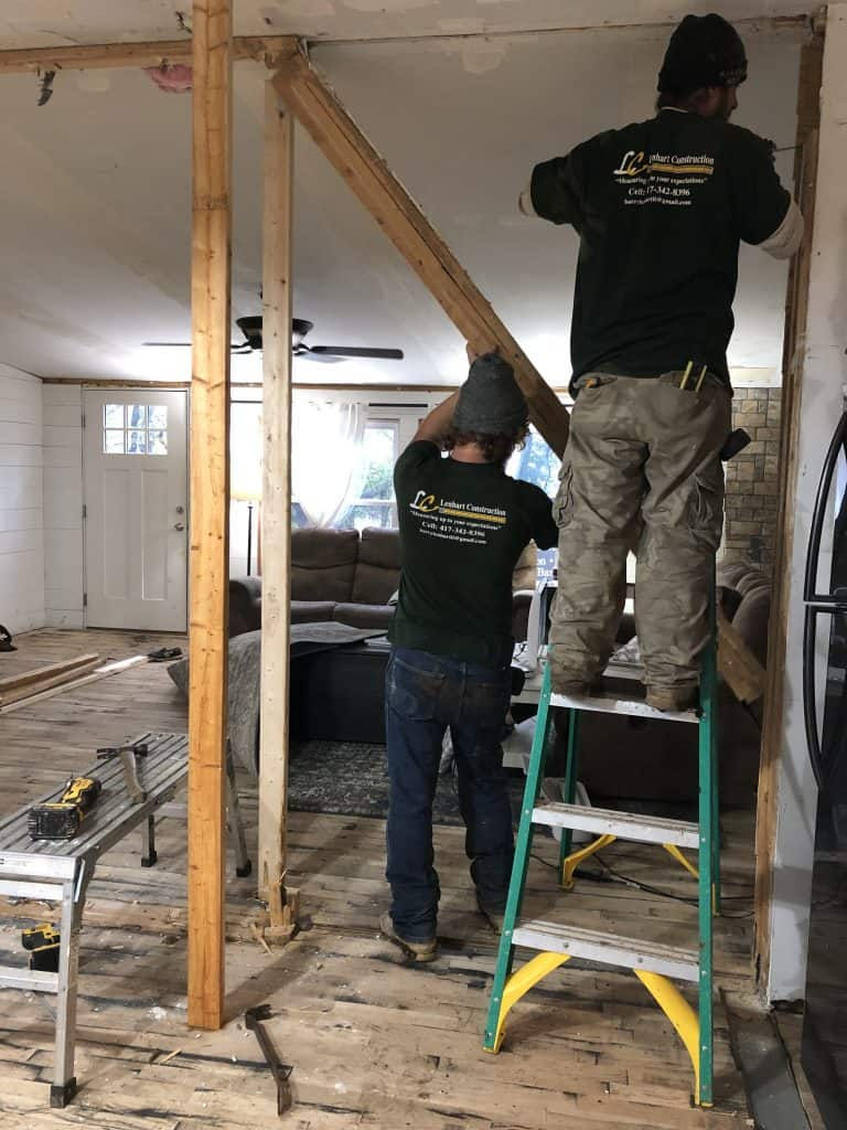 Removing the Marriage Wall in a Double Wide Mobile Home