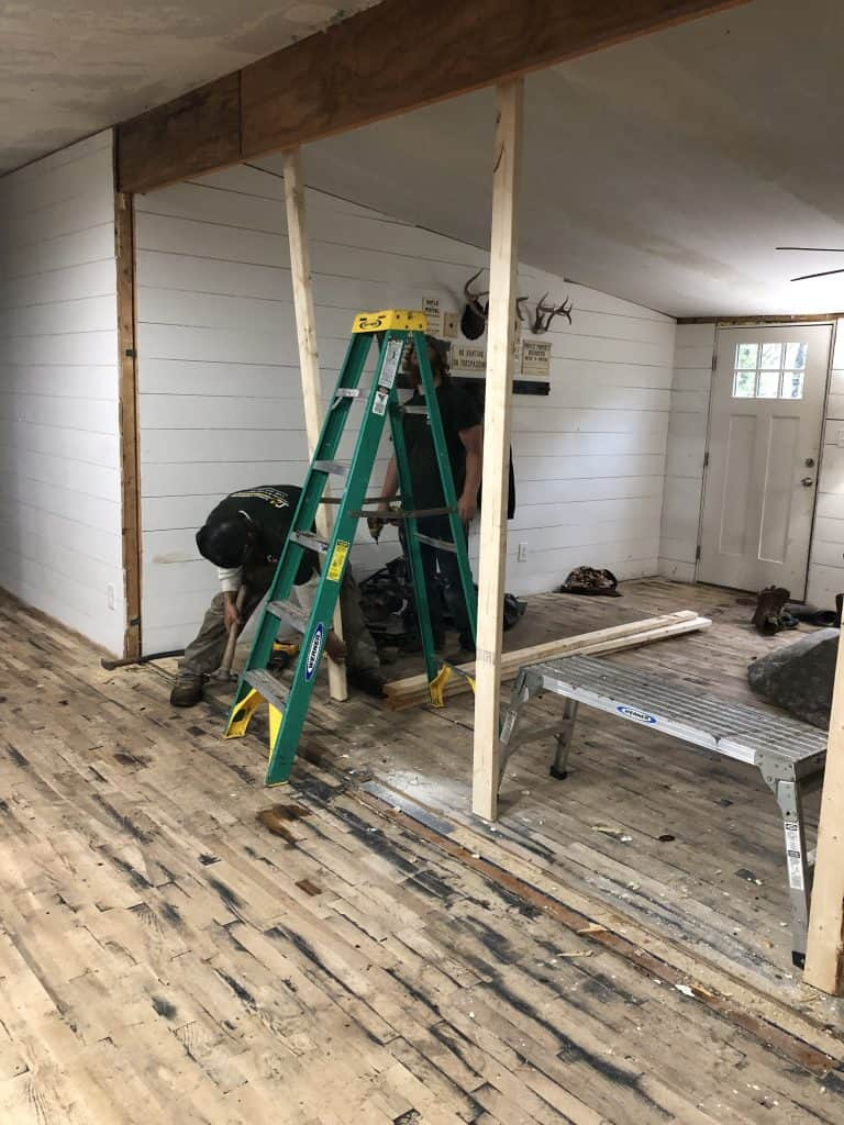 Removing the Walls in a Mobile Home
