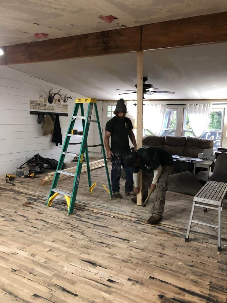Mobile Home Wall Removal