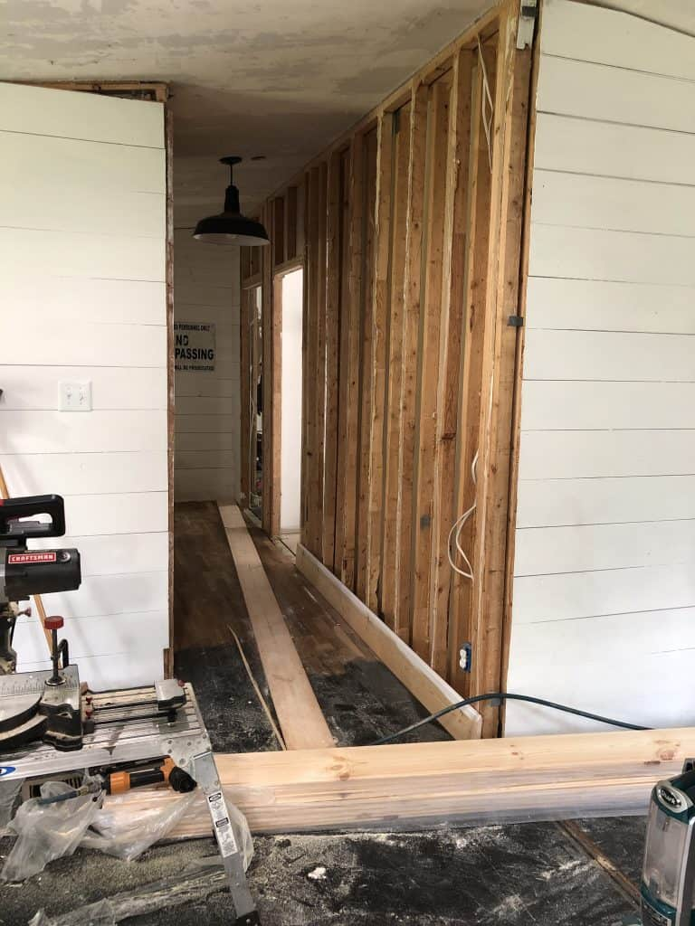 How to Hang Shiplap on a Mobile Home Wall