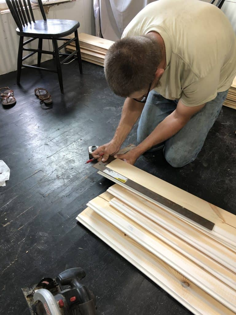 How to cut shiplap around electric outlet