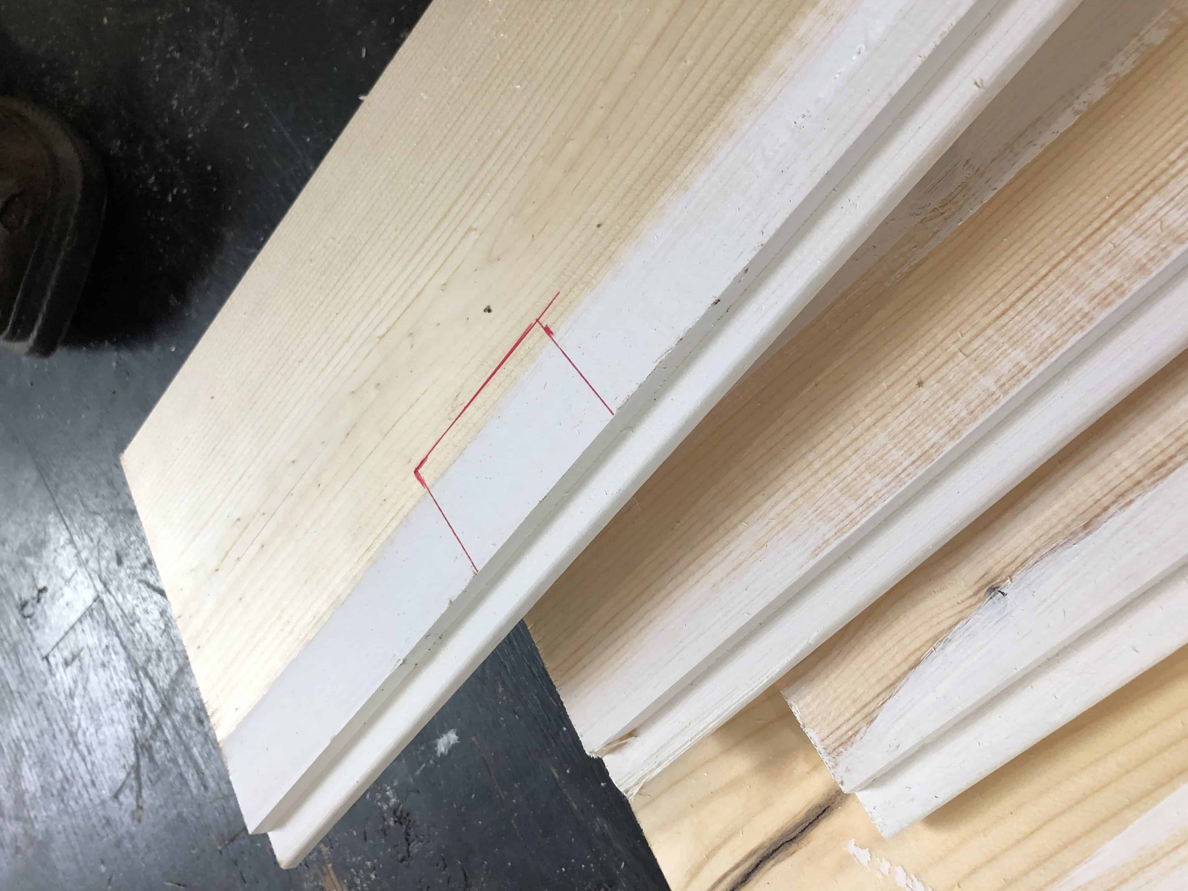 Cutting shiplap for outlets