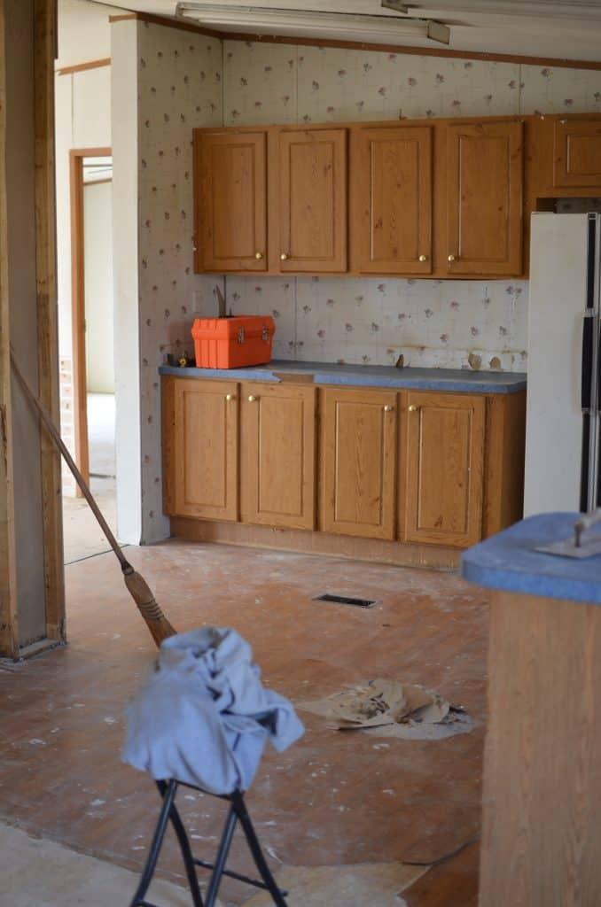 Double Wide Kitchen Remodel Layout Plan Rocky Hedge Farm