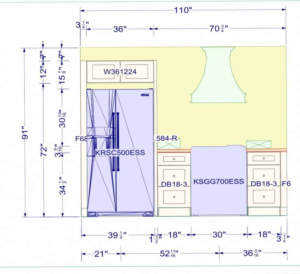 Double Wide Mobile Home Kitchen Layout Idea
