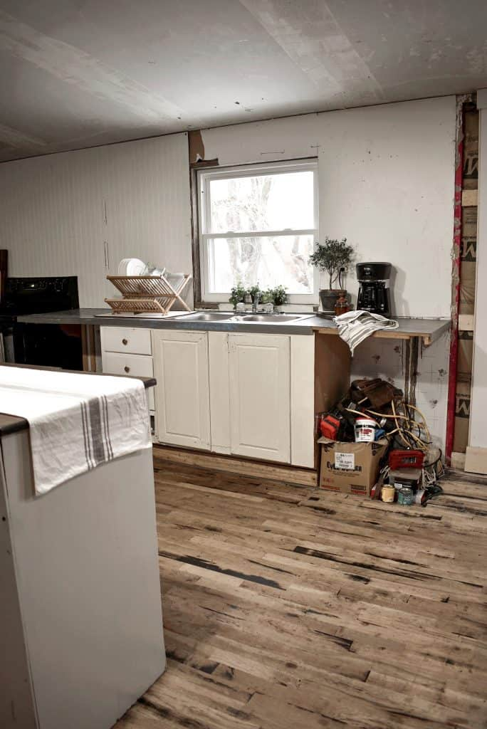 Double Wide Mobile Home Kitchen