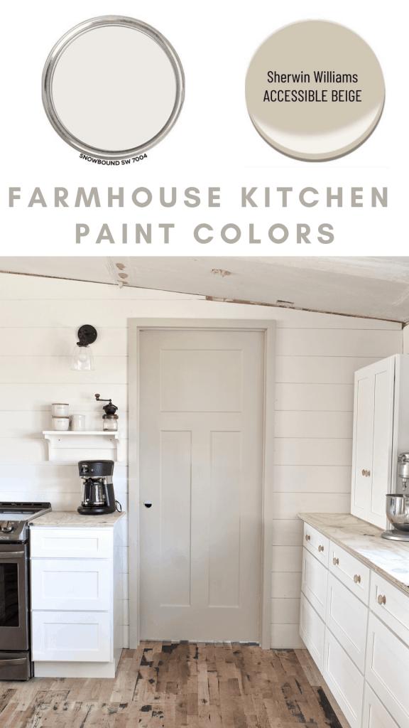 Shaker Kitchen Style Farmhouse Paint Colors