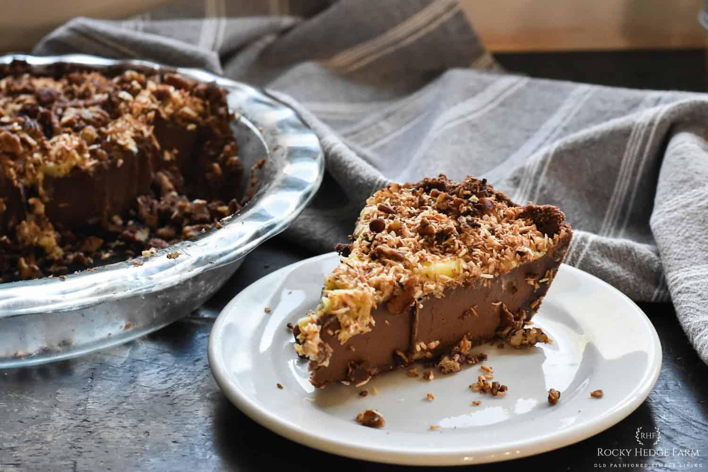 Keto German Chocolate Cake Pie