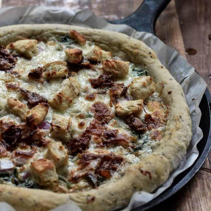 Overnight Sourdough Herb Crust Pizza