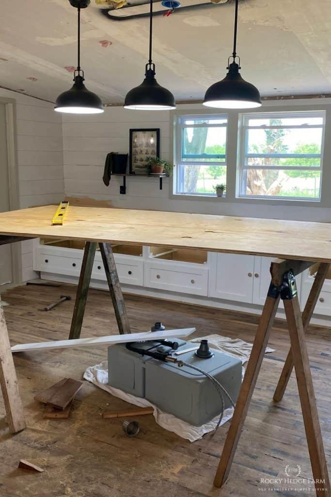 DIY Plywood Countertops
