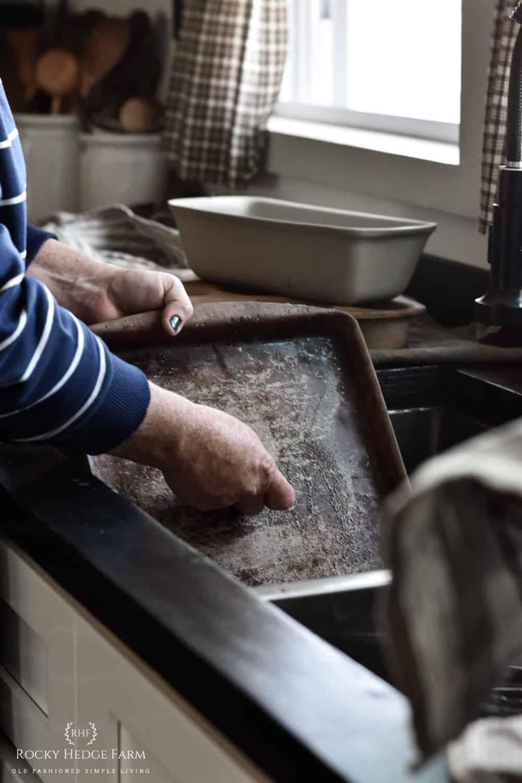 Seasoning Pampered Chef Stoneware