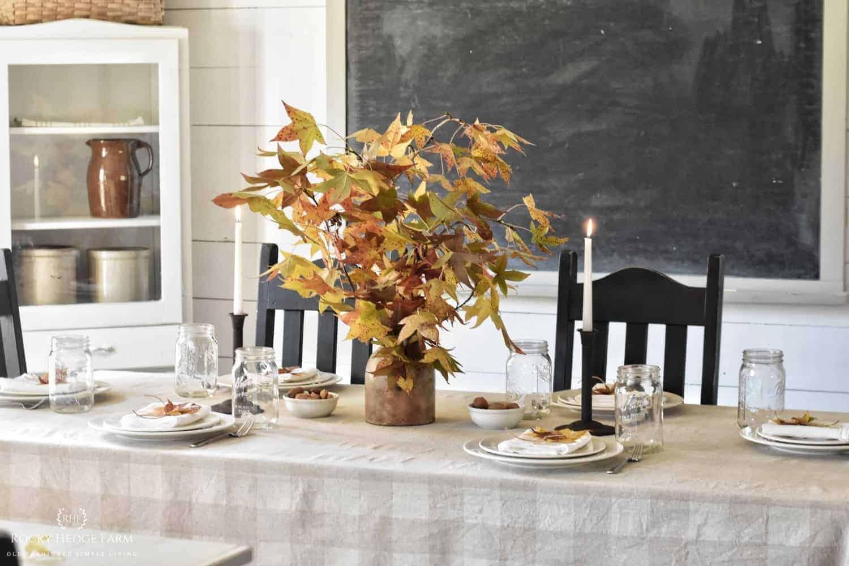Simple Fall Table Setting