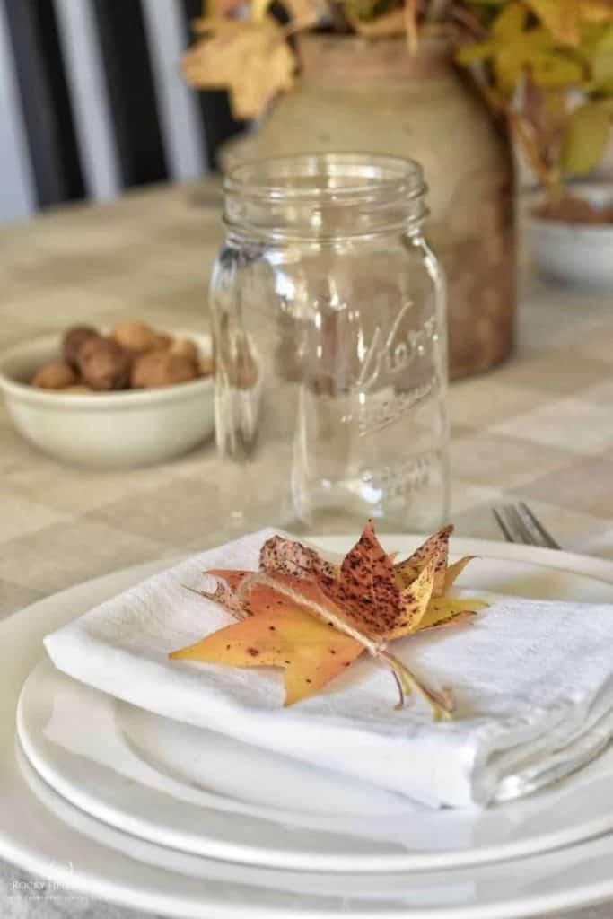 fall farmhouse table setting