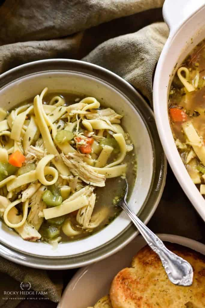 chicken noodle soup homemade