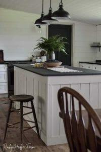 White Kitchen Island Rustic Farmhouse