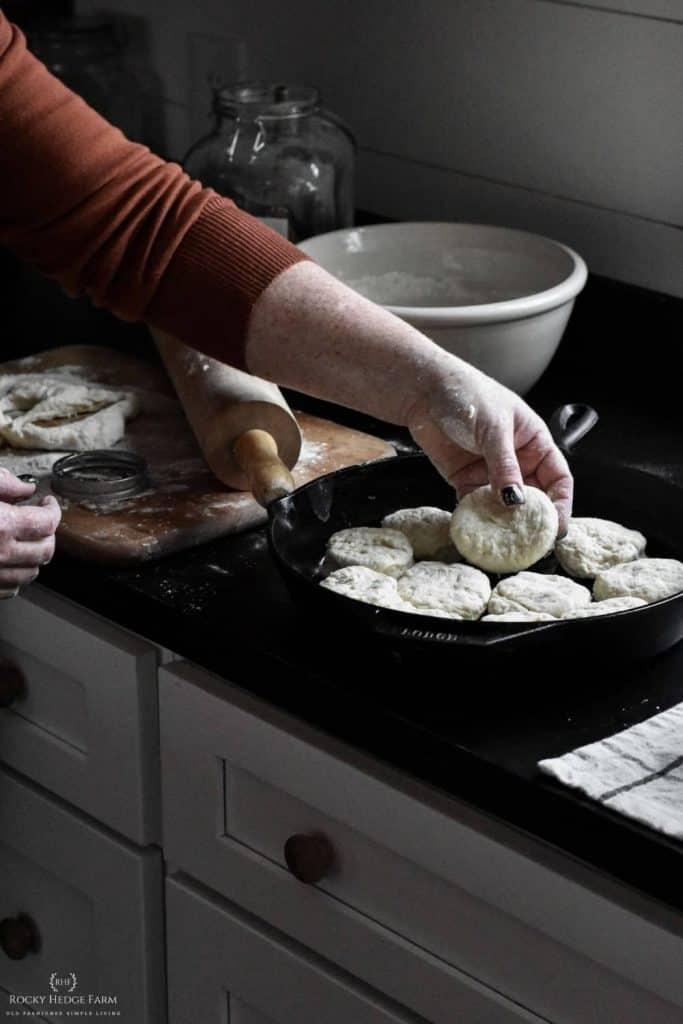 Sourdough Biscuit Cast Iron Skillet