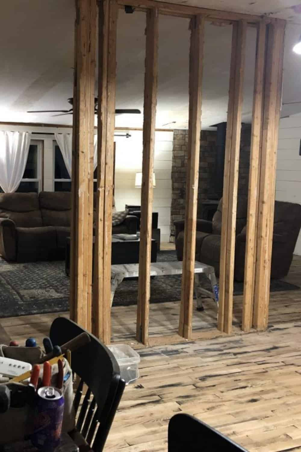 Removing load bearing wall mobile home