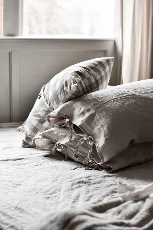 diy linen pillow cover