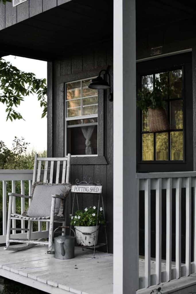 Small Garden Shed with Porch