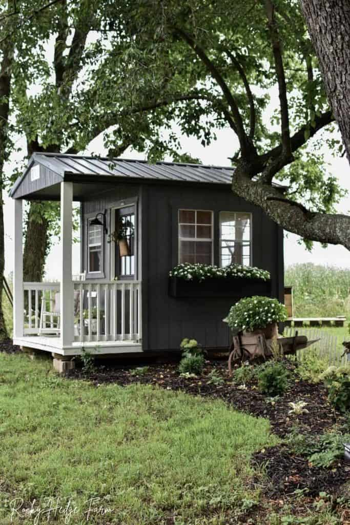 small rustic garden shed