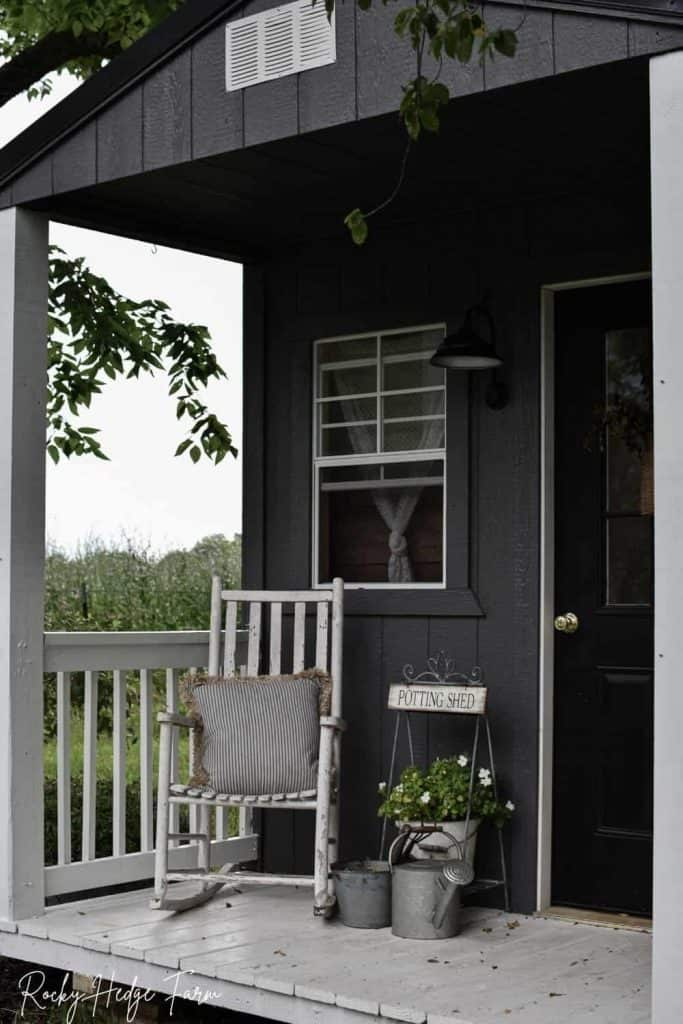 rustic garden shed porch