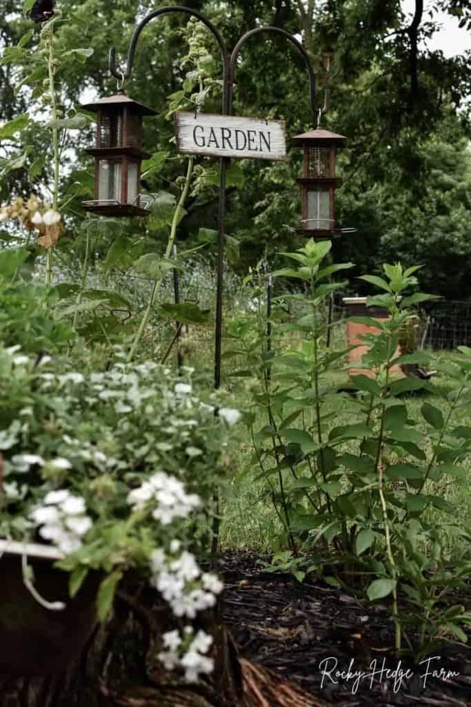 homemade garden sign