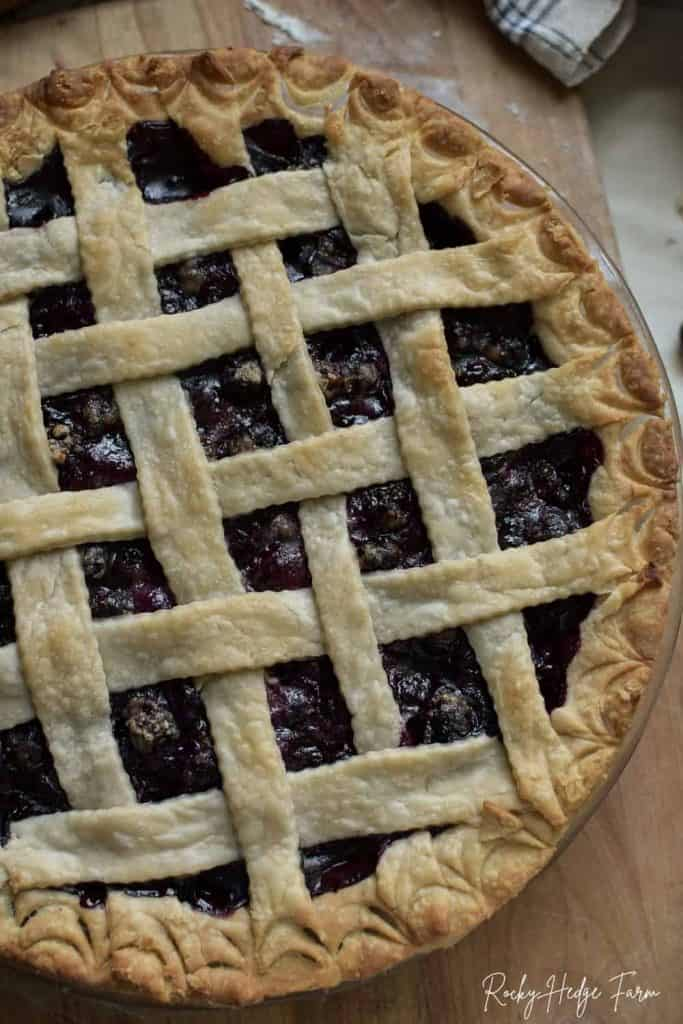 Simply the Best Blueberry Pie