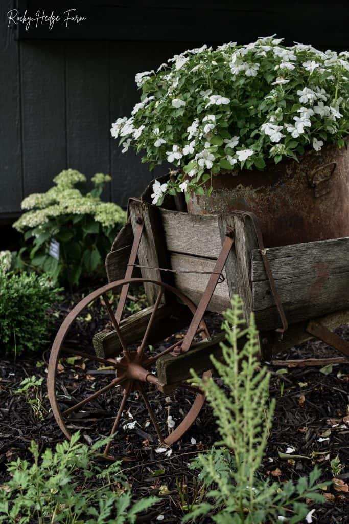Wheelbarrow Planter with Impatiens